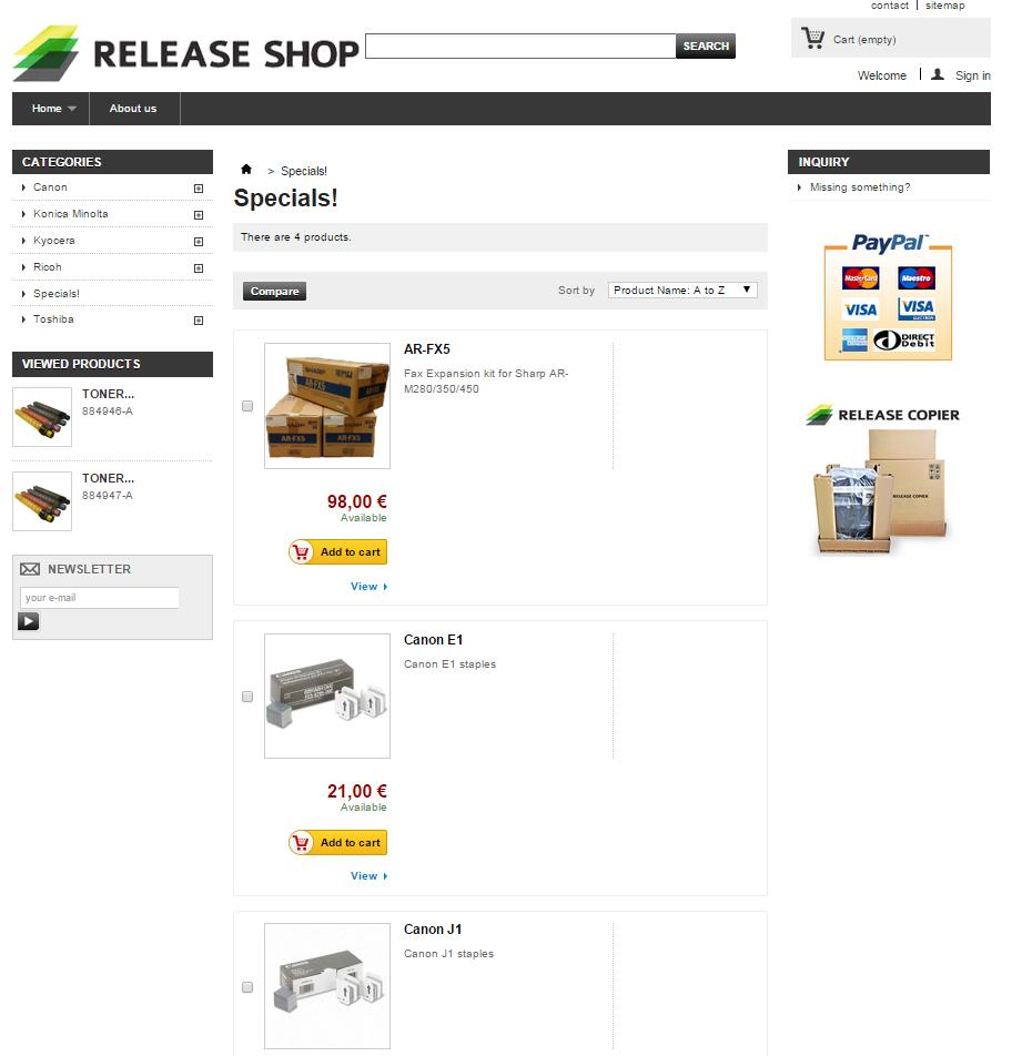 Release Shop snip